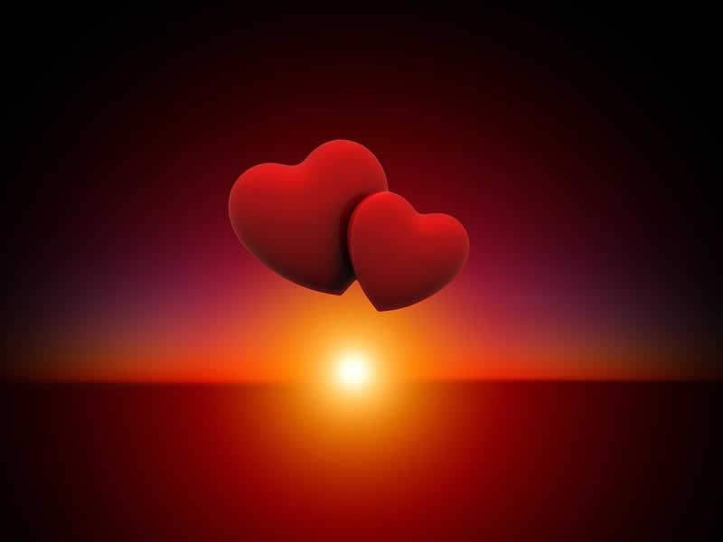 Corazones enamorados